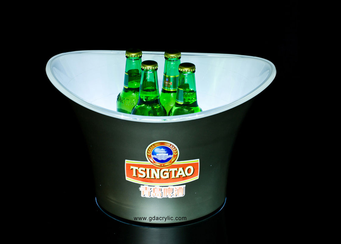 Moulding Made Customized Plastic Large Capacity Wine Ice Bucket with rechargeable battery